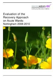Evaluation of the Recovery Approach on Acute Wards