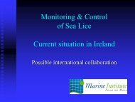 Monitoring & Control of Sea Lice Current situation in Ireland