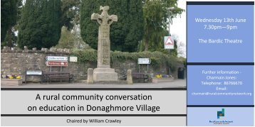 A rural community conversation on education in Donaghmore Village