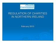 REGULATION OF CHARITIES IN NORTHERN IRELAND