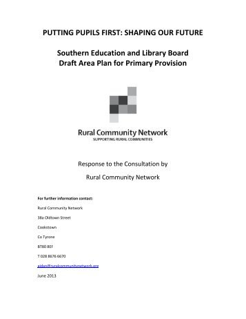 Response to SELB consultation - Rural Community Network