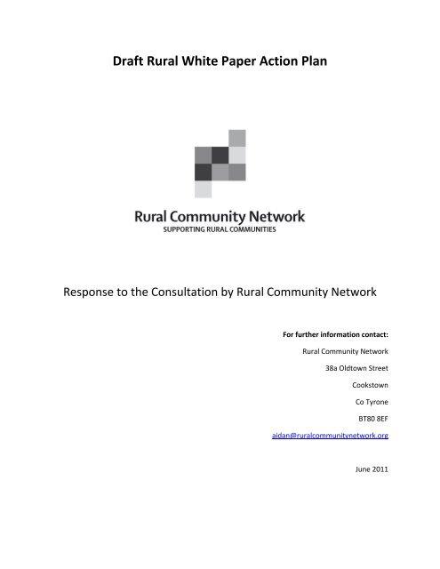 Draft Rural White Paper Action Plan