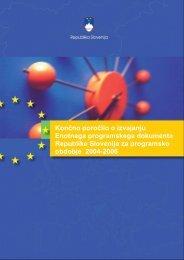 Republike Slovenije za programsko obdobje 2004-2006