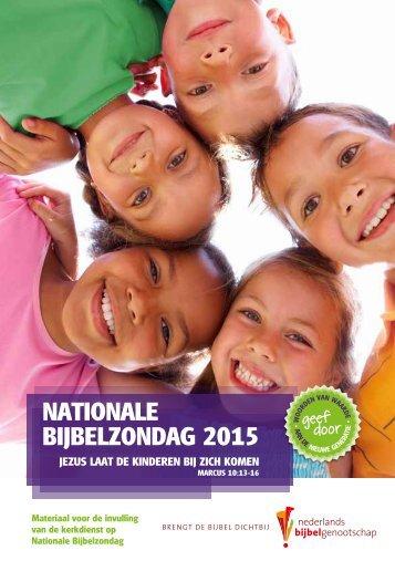 NATIONALE BIJBELZONDAG 2015