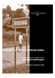 Burundi, la Justice en milieu rural - RCN Justice & Démocratie