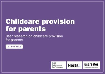 Childcare provision for parents