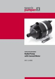 Radial Pump with Canned Motor MY-3-MM