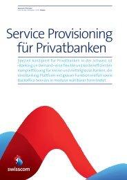 notwendigen Services – von einem Anbieter - Swisscom