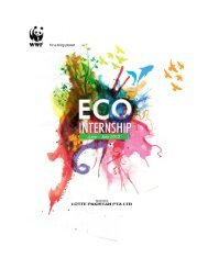 Lotte Pakistan & WWF-Pakistan Eco Internship Programme 2012 Final Report