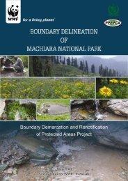 oundary Delineation of Machiara National Park i