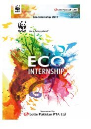 Lotte Pakistan & WWF-Pakistan Eco Internship Programme 2011 Final Report