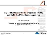 Nutzung der CMMI-Assessmentmethode für ITIL-Prozesse - Dr. Ralf ...
