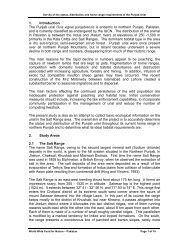 Survey of the status, distribution and home range - WWF-Pakistan