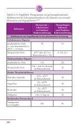 Tabelle 6.20: Empfohlene Therapiepausen von ... - Gerinnung