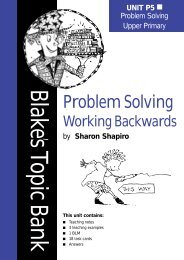 Problem Solving: Working Backwards - Blake Education