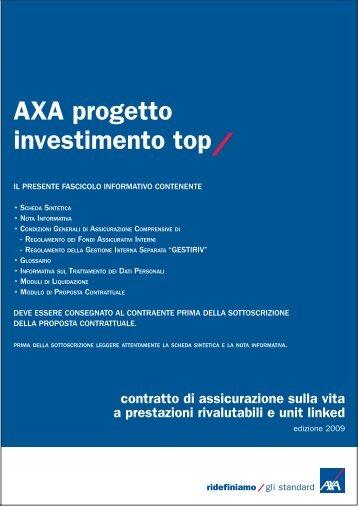 Scheda AXA Progetto Investimento Top - MottaFrancesco.it