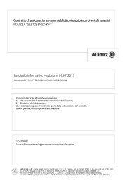 Fascicolo Informativo – edizione 01.07.2013