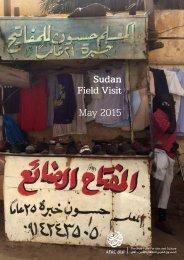 Sudan Field Visit May 2015