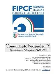 Comunicato Federale n°2