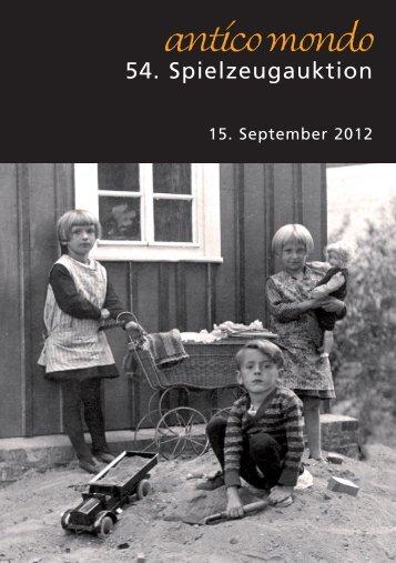 Highlights der 54. Spielzeugauktion 15. September ... - Antico Mondo