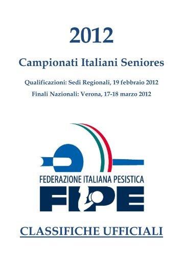 CLASSIFICHE UFFICIALI - Federazione Italiana Pesistica