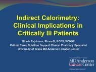 Indirect Calorimetry Clinical Implications in Critically Ill Patients