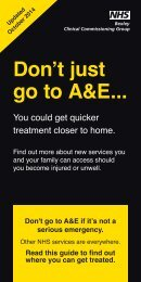 Don't just go to A&E..