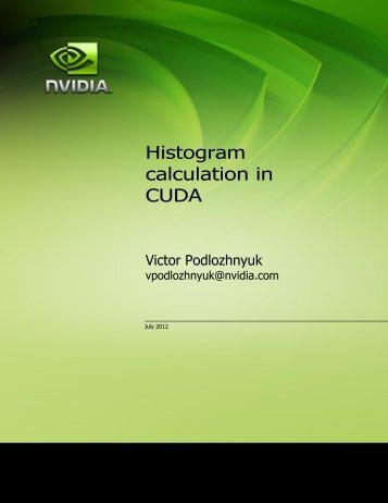Histogram calculation in CUDA