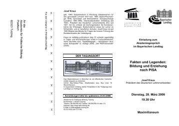 Programm Richter (Piazolo)  - Akademie für Politische Bildung Tutzing