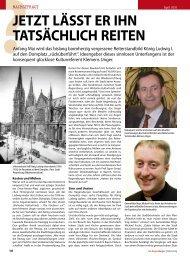 Jetzt lässt er ihn tatsächlich reiten - Regensburger Stadtzeitung