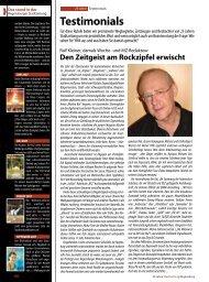 Testimonials (2077 kb) - Regensburger Stadtzeitung