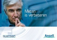 Meten is verbeteren - Ansell Healthcare Europe