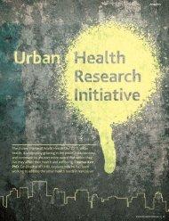 The chosen theme of World Health Day 2010, urban health, is ...