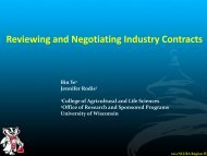 Reviewing and Negotiating Industry Contracts