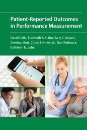 Patient-Reported Outcomes in Performance Measurement