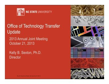 Office of Technology Transfer Update