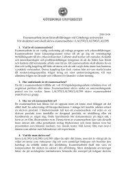 Examensarbete inom lärarutbildningen vid Göteborgs universitet För ...