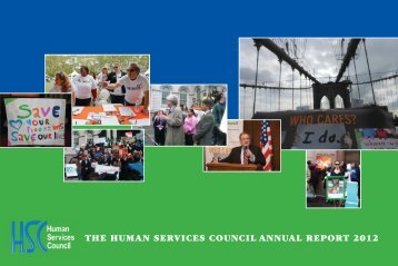 THE HUMAN SERVICES COUNCIL ANNUAL REPORT 2012