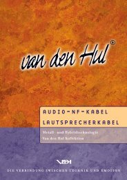 Van den Hul: Loudspeaker and Interconnect Cable Brochure - German