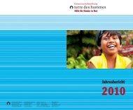 Jahresbericht 2010 als PDF-Dokument - Gemeinschaftsstiftung terre ...
