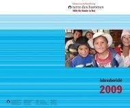 Jahresbericht 2009 als PDF-Dokument - Gemeinschaftsstiftung terre ...