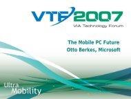 The Mobile PC Future Otto Berkes, Microsoft