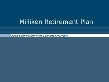 Milliken Retirement Plan
