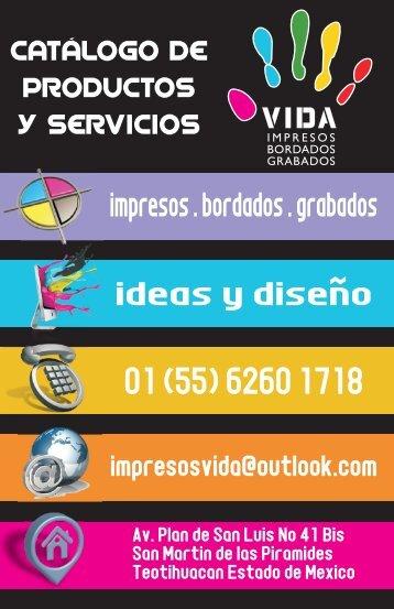 Catálogo de Productos y Servicios Selección de Color