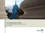2013 Washington Outlook