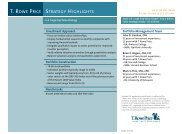 T ROWE PRICE STRATEGY HIGHLIGHTS