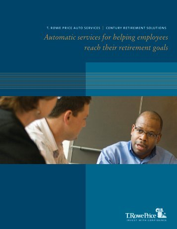 Automatic services for helping employees reach their retirement goals