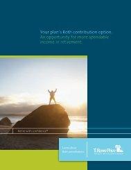 Roth Brochure - Login to T. Rowe Price