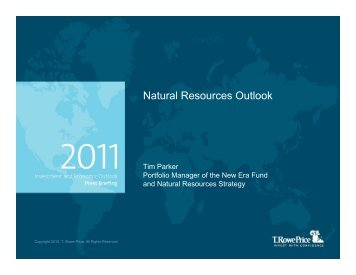 Natural Resources Outlook