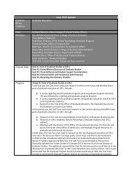 Executive Summary of Graduate Education Task Force